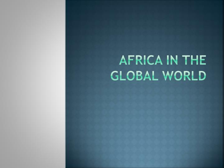 africa in the global world n.