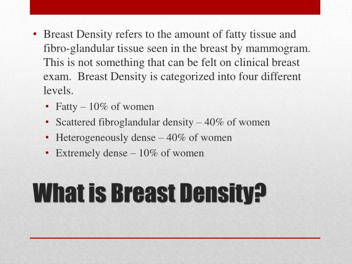 What is breast density