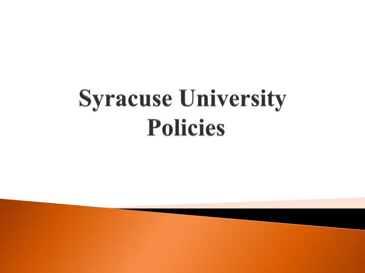 syracuse university policies n.