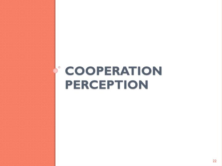COOPERATION PERCEPTION