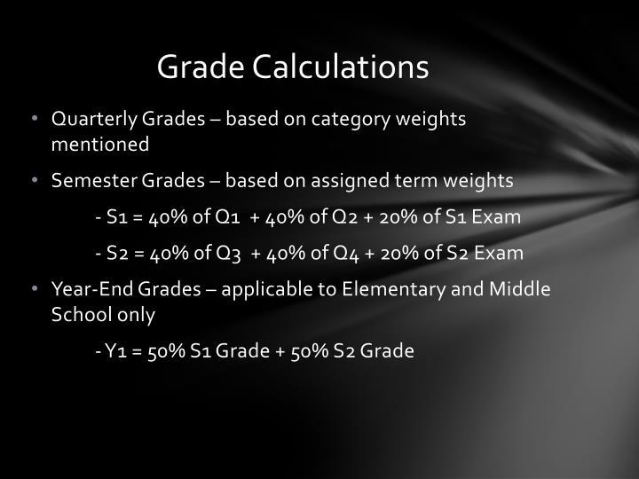 Grade Calculations