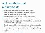 agile methods and requirements