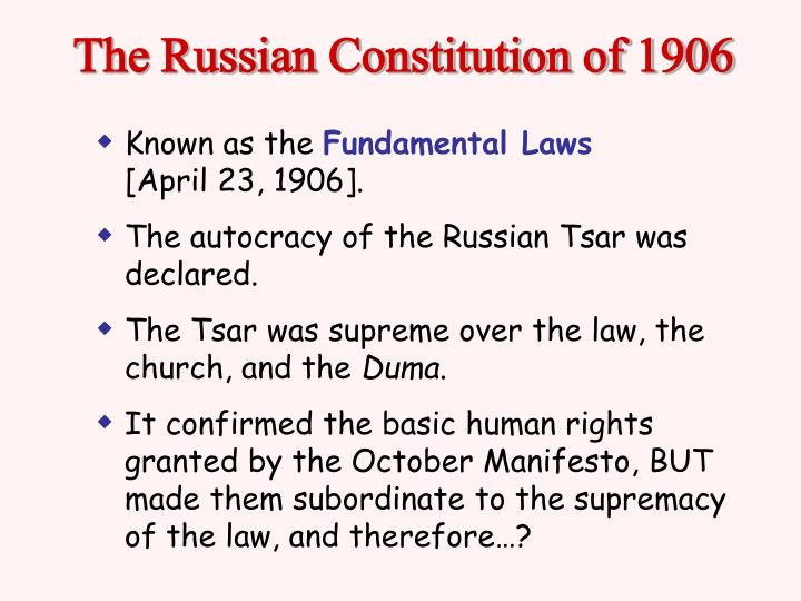 The Russian Constitution of 1906