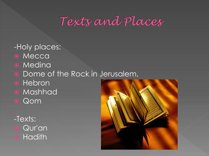 Texts and Places