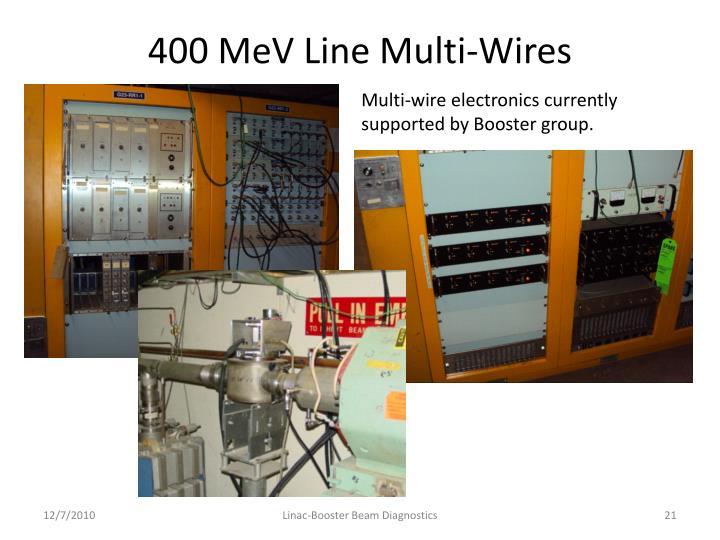 400 MeV Line Multi-Wires
