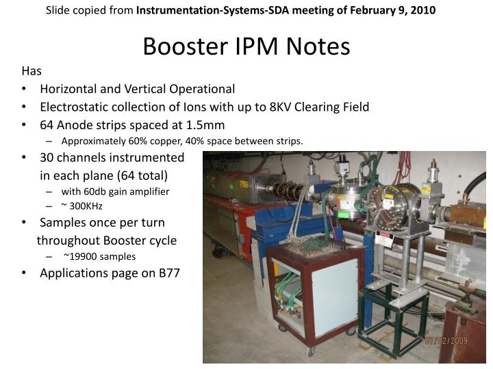 Booster IPM Notes