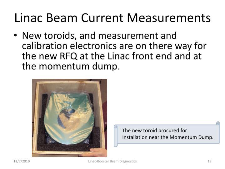 Linac Beam Current Measurements