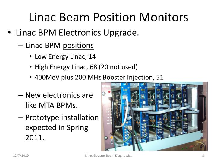 Linac Beam Position Monitors