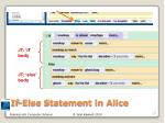 if else statement in alice