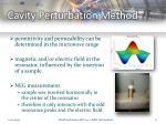 cavity perturbation method1
