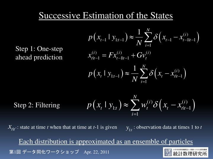Successive Estimation of the States