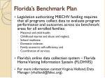 florida s benchmark plan