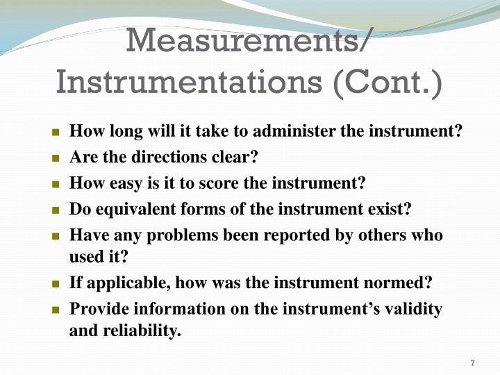 Measurements/
