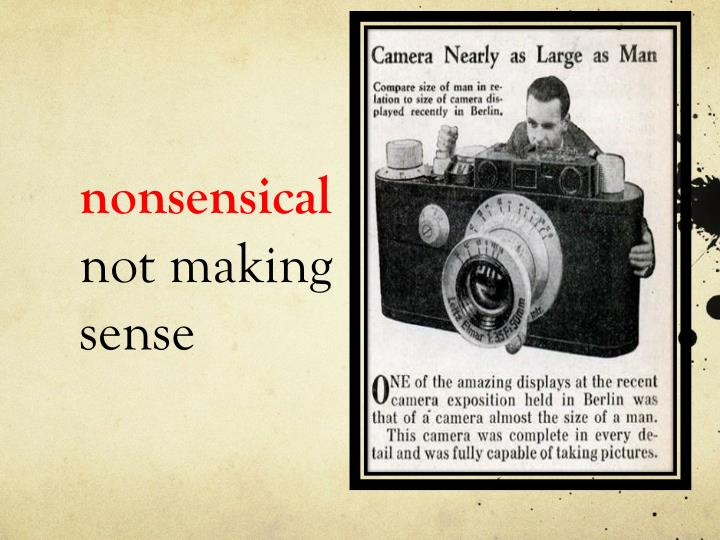 nonsensical