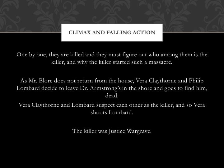 Climax and Falling Action