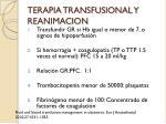 terapia transfusional y reanimacion
