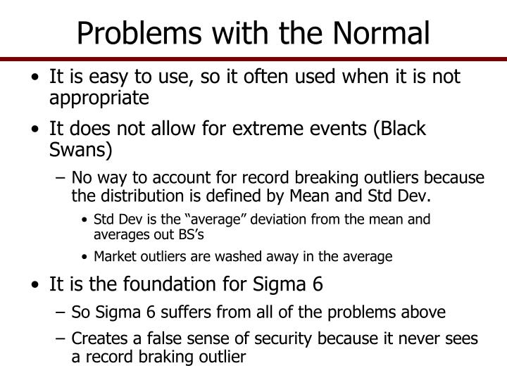 Problems with the Normal
