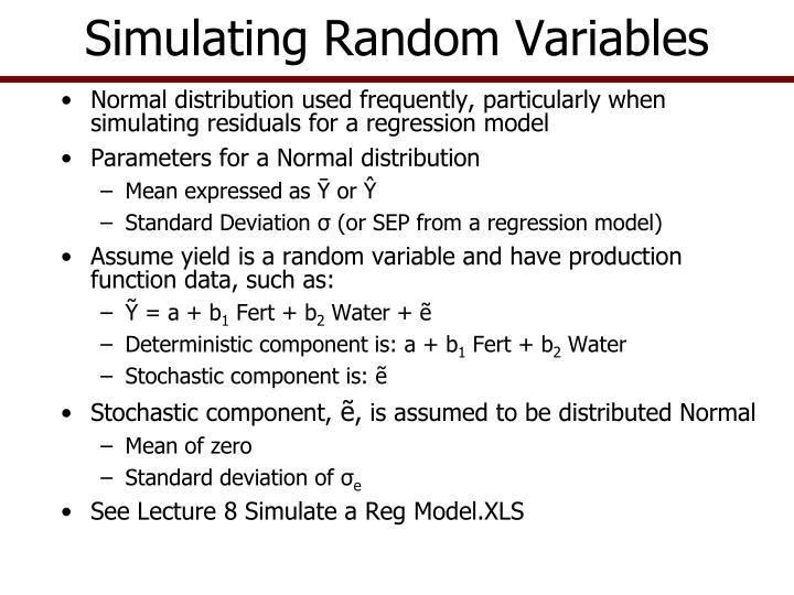 Simulating Random Variables