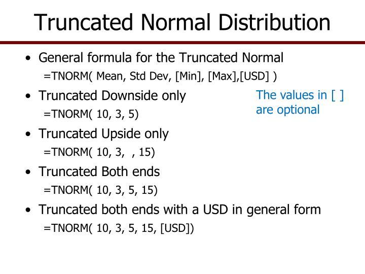 Truncated Normal Distribution