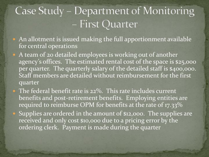 Case Study – Department of