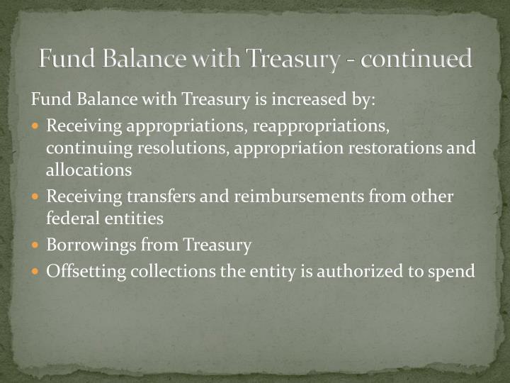 Fund Balance with