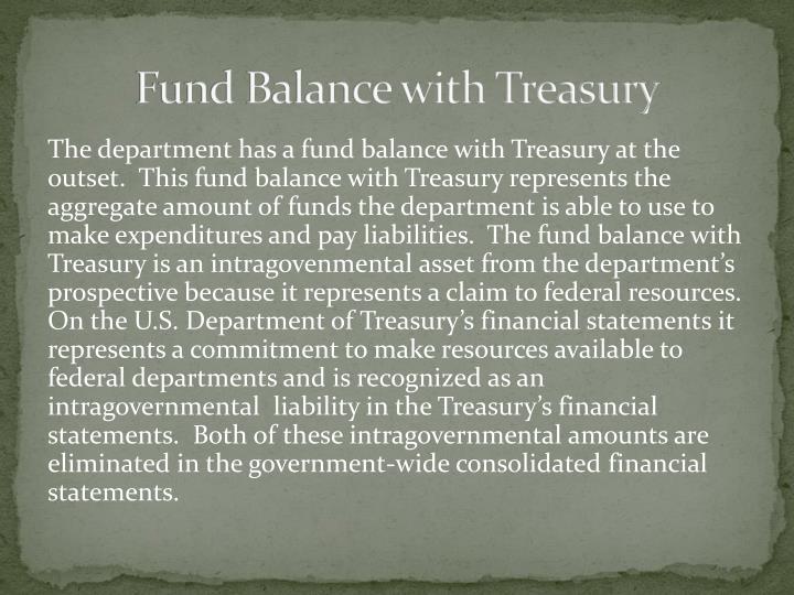 Fund Balance with Treasury