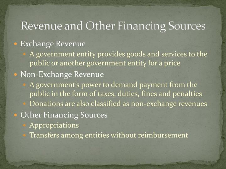 Revenue and Other Financing Sources
