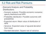 5 2 risk and risk premiums