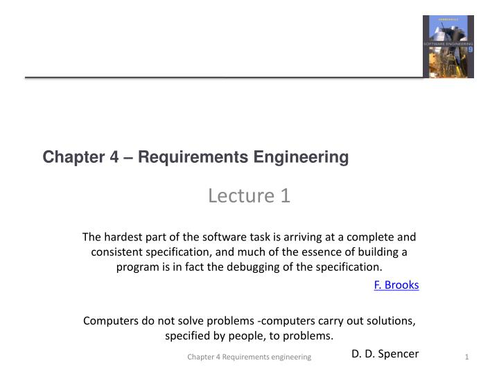 Chapter 4 requirements engineering