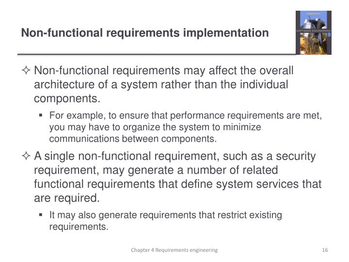 Non-functional requirements implementation