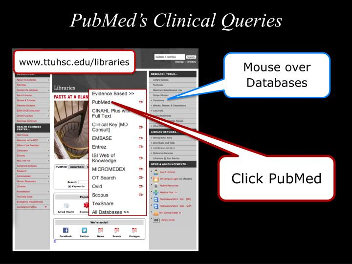 PubMed's Clinical Queries