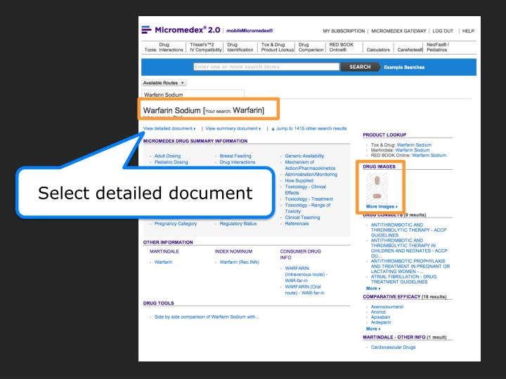 Select detailed document