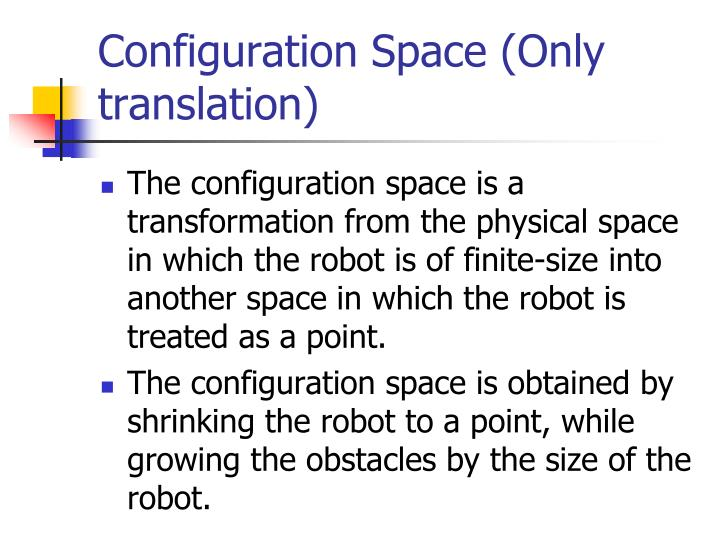 Configuration Space (Only translation)
