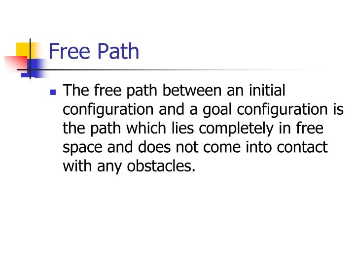 Free Path