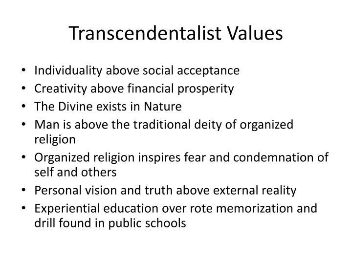 Transcendentalist Values