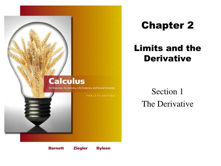 chapter 2 limits and the derivative n.