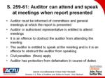 s 259 61 auditor can attend and speak at meetings when report presented