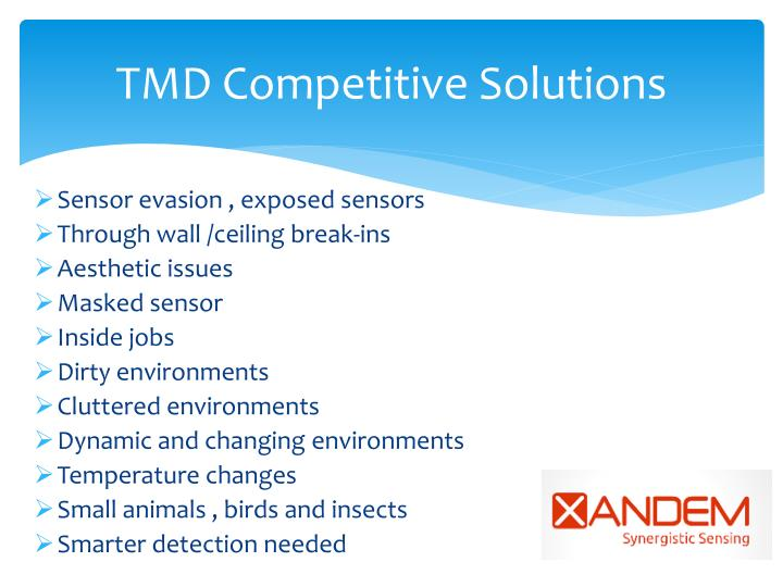 TMD Competitive Solutions