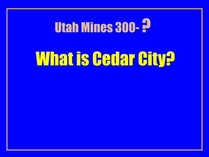 Utah Mines