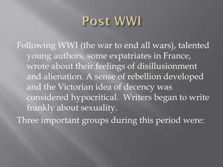 Post wwi