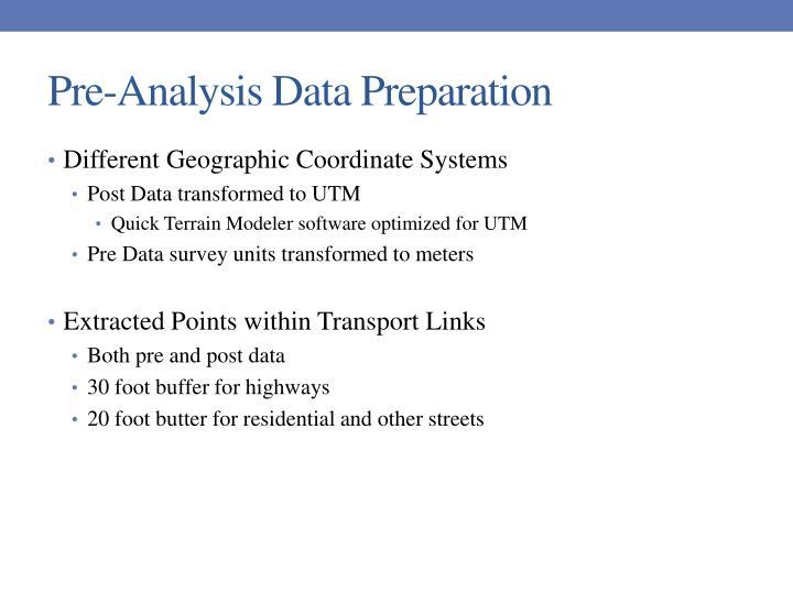 Pre-Analysis Data Preparation