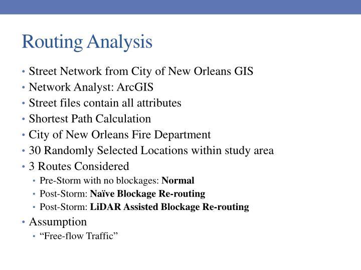 Routing Analysis