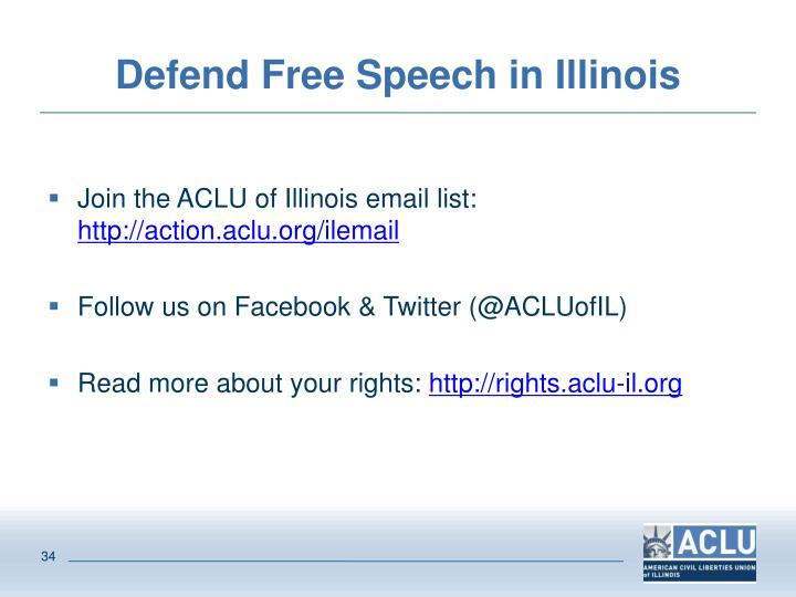 Defend Free Speech in Illinois