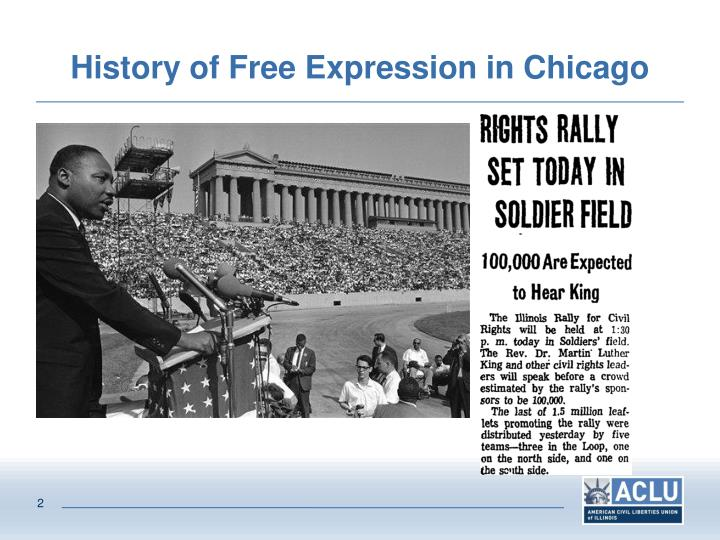 History of free expression in chicago