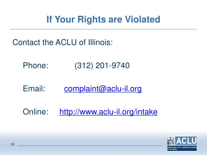 If Your Rights are Violated