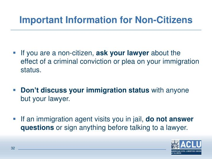 Important Information for Non-Citizens