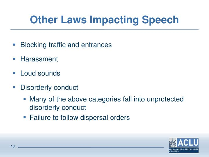 Other Laws Impacting Speech