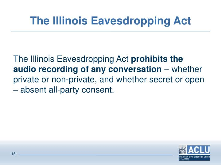The Illinois Eavesdropping Act