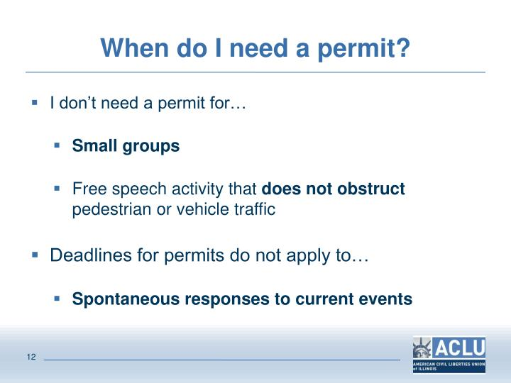 When do I need a permit?