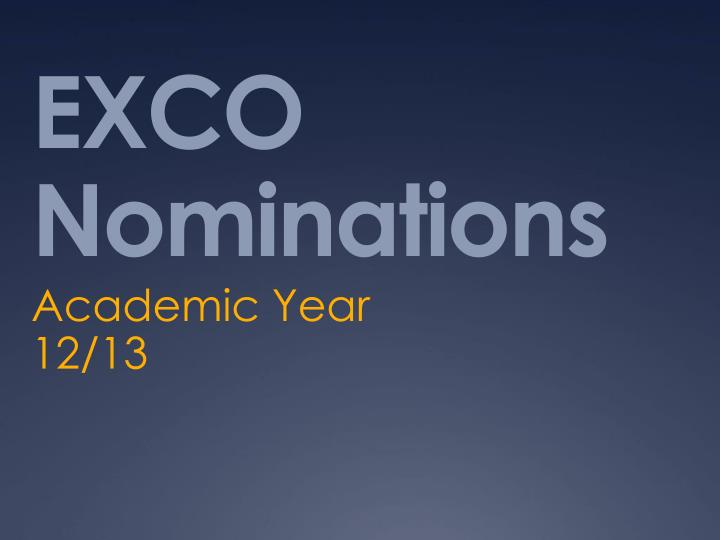 exco nominations n.